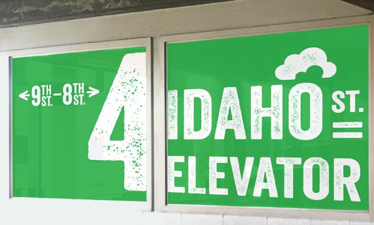 Car Park elevator mockup