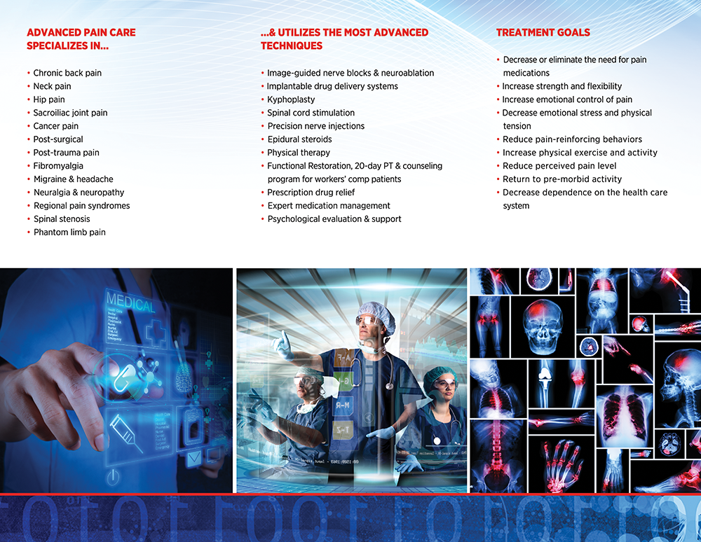 Pain management brochure back