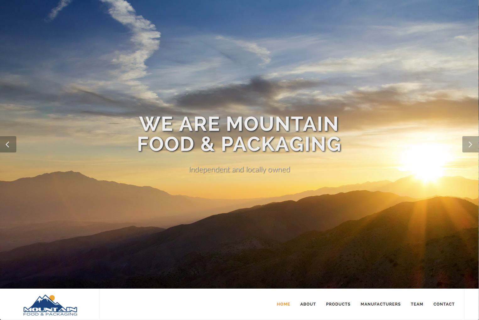 Mountain food website