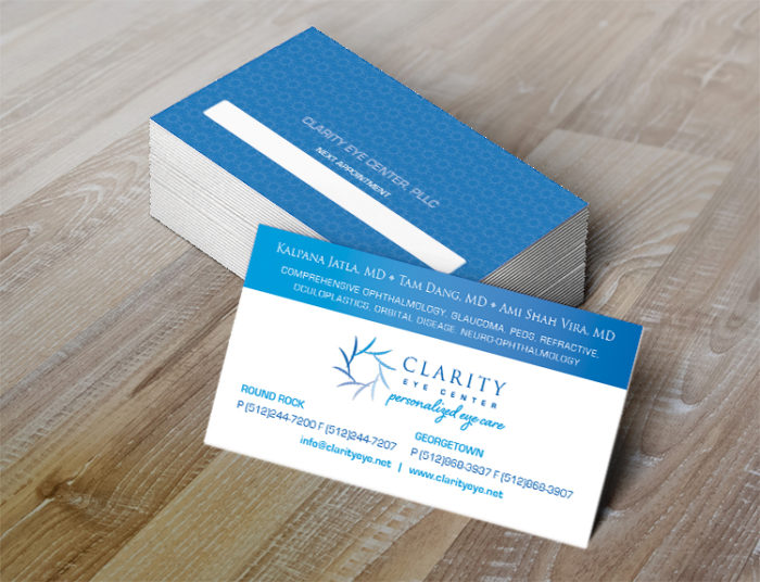 clarity eye business cards