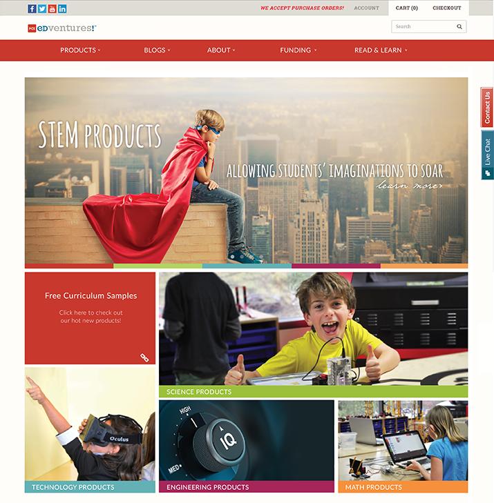 PCS Edventures home page