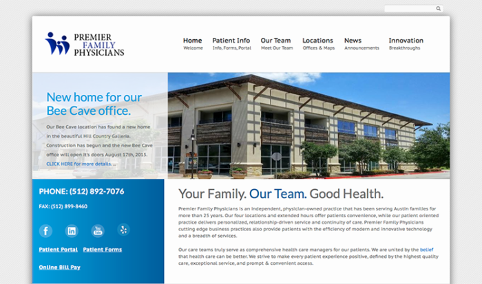 premier family physicians website