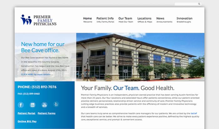 premier family physicians website