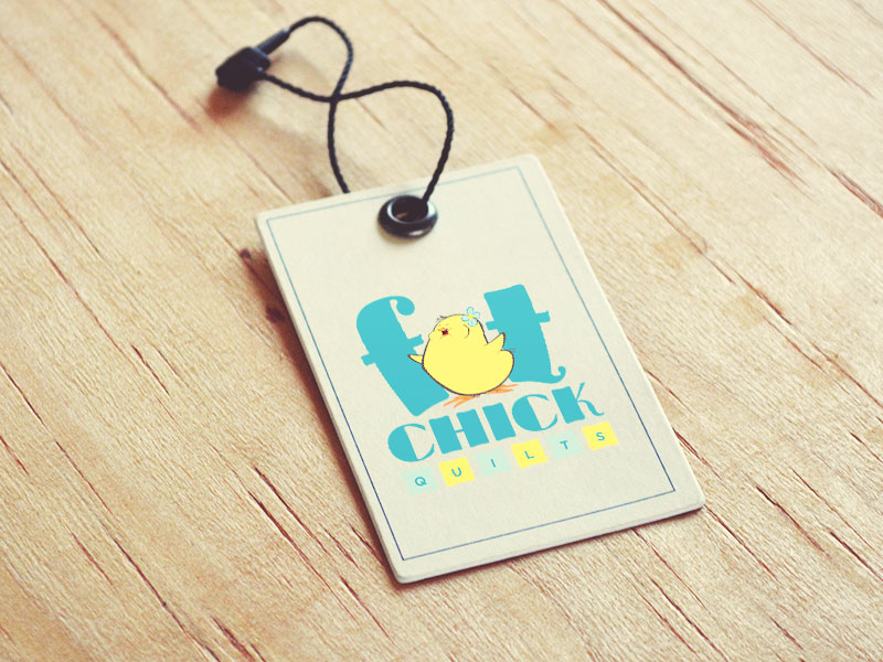 fat chick quilts tag