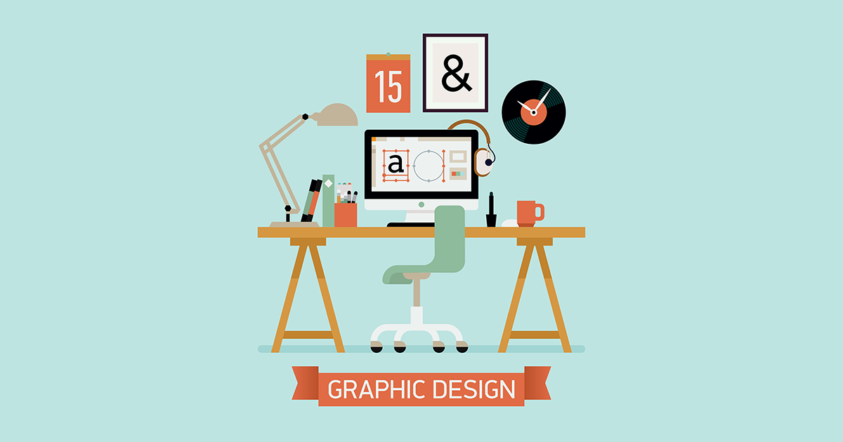 graphic design office table
