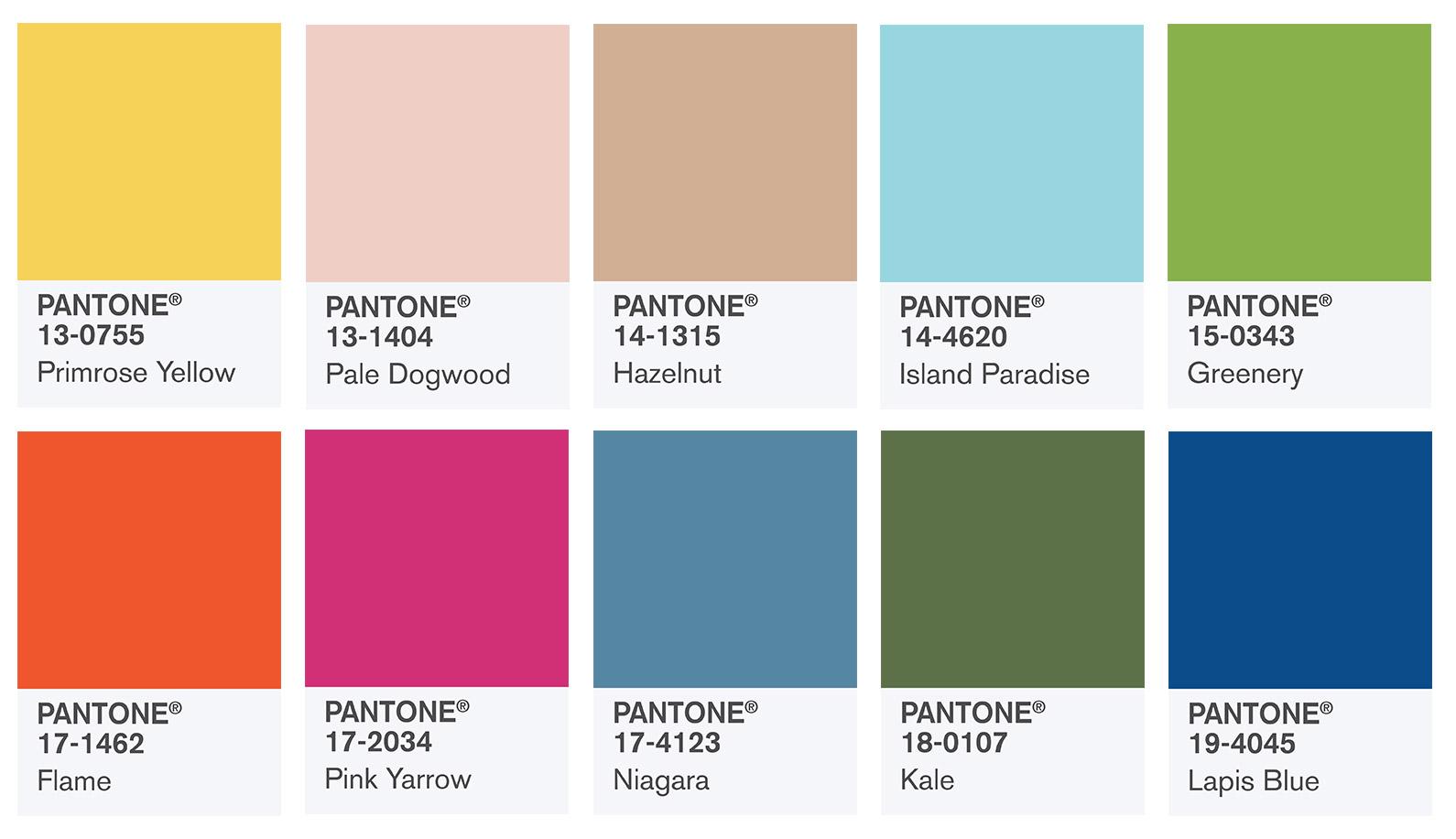 pantone 2017 colors