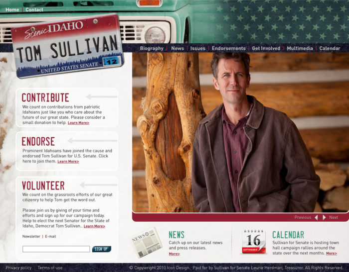 Sullivan for Senate website