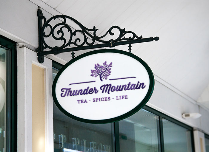 Thunder Mountain sign