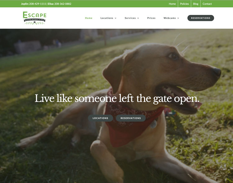 escape canine home page